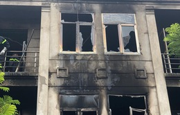 Cháy lớn tại khu đô thị liền kề Thiên Đường Bảo Sơn