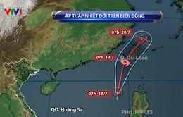 Xuất hiện áp thấp nhiệt đới trên Biển Đông, khả năng mạnh thành bão