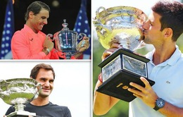"""Cuộc đua Grand Slam: Djokovic đang giành """"pole"""" trước Federer và Nadal"""