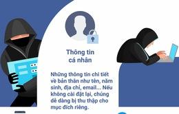 [Infographic]: Những thông tin nào dễ bị lộ qua Facebook?
