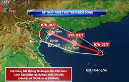 Áp thấp nhiệt đới hầu như ít dịch chuyển