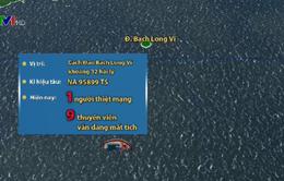 Tìm kiếm nạn nhân mất tích trong vụ tàu cá bị chìm ở vùng biển Bạch Long Vỹ