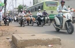 Hàng nghìn hố ga trên đường Hà Nội hư hỏng, xuống cấp