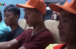 Tạm dừng tìm kiếm 9 thuyền viên Nghệ An mất tích do bão số 2