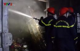 Gia Lai: Cháy chợ Trà Bá trong đêm