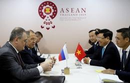 PTT, Bộ trưởng Bộ Ngoại giao Việt Nam gặp song phương Bộ trưởng Bộ Ngoại giao Nga, Na Uy, Thái Lan.