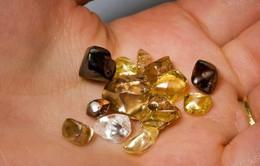Đi dạo quanh công viên vô tình nhặt được viên kim cương 2,12 carat