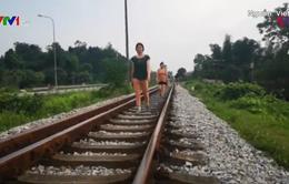 Biến đường sắt thành nơi... tập thể dục