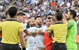 Argentina 2-1 Chile: Messi nhận thẻ đỏ, Argentina giành hạng 3 Copa America 2019