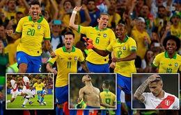 ẢNH: Jesus nhận thẻ đỏ, Brazil vẫn vô địch Copa America sau 12 năm chờ đợi