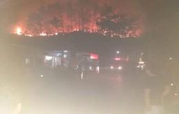 Hà Tĩnh: Rừng ở Hương Sơn bùng cháy trở lại
