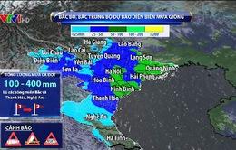 Bão số 3 gây mưa lớn ở Bắc Bộ, Bắc Trung Bộ