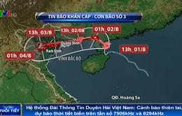 Chiều tối mai (2/8), bão số 3 sẽ đi vào đất liền Quảng Ninh - Thái Bình