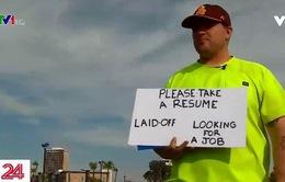 Nhận được hàng trăm đề nghị làm việc sau khi đứng tìm việc ở ngã tư