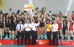 Chung kết và lễ bế mạc, trao giải VTV Cup Tôn Hoa Sen 2019: NEC Red Rockets (Nhật Bản) 3-1 (27/29, 25/17, 25/17, 25/16) ĐT Việt Nam