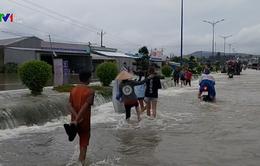 Nước đang rút dần tại Phú Quốc