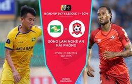 Sông Lam Nghệ An 0-0 CLB Hải Phòng: Chia điểm nhạt nhoà trên sân Vinh!