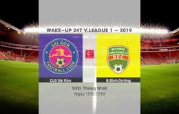 VIDEO Highlights: CLB Sài Gòn 0-1 B.Bình Dương (Vòng 20 Wake-up 247 V.League 1-2019)