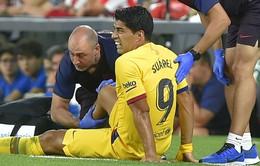 Barcelona cập nhật chấn thương của Suarez