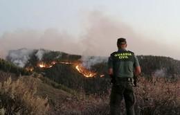 Cháy rừng tái bùng phát tại điểm du lịch nổi tiếng ở Tây Ban Nha
