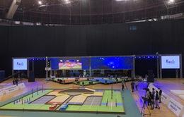 Sôi động không khí buổi thử sân tại ABU Robocon 2019