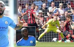 """Bournemouth 1-3 Man City: Aguero lập cú đúp, The Citizens """"phả hơi nóng"""" vào Liverpool"""