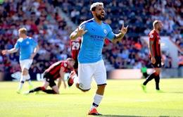 Thắng đậm Bournemouth, Man City áp sát Liverpool