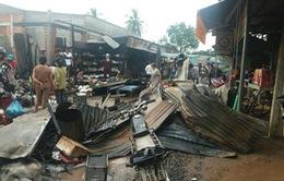 Tây Ninh: Cháy chợ biên giới Hòa Bình, ước thiệt hại gần 2 tỷ đồng