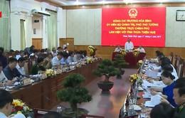Phó Thủ tướng Thường trực Chính phủ Trương Hòa Bình làm việc với tỉnh TT-Huế