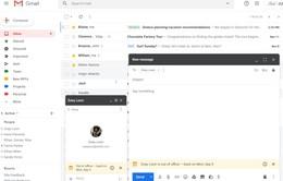 Gmail cập nhật thông báo người nhận đang bận trên cửa sổ Hangouts Chat
