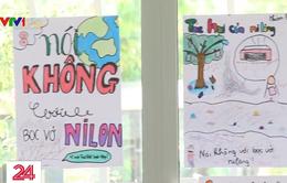 Nhiều trường học hưởng ứng phong trào không rác thải nhựa