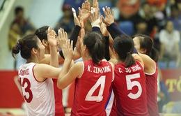 Ảnh VTV Cup 2019: Tung đội hình mạnh nhất, CHDCND Triều Tiên thắng nhàn Phúc Kiến Trung Quốc