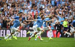 Đánh bại Liverpool trên chấm 11m, Man City vô địch Siêu Cúp nước Anh lần thứ 2 liên tiếp