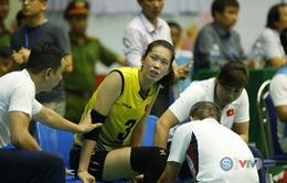 VTV Cup 2019: Chấn thương bất ngờ, Trần Thị Thanh Thúy đau đớn rời sân