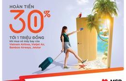 Hành khách được hoàn tiền 30% khi mua vé máy bay bằng thẻ tín dụng