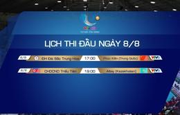 Lịch thi đấu và trực tiếp VTV Cup Tôn Hoa Sen 2019 hôm nay, ngày 8/8: ĐH Đài Bắc Trung Hoa - Phúc Kiến (Trung Quốc), CHDCND Triều Tiên - Altay (Kazakhstan)