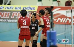 Trận bán kết 1 VTV Cup Tôn Hoa Sen 2019: NEC Red Rockets (Nhật Bản) 3-0 (25/22, 25/11, 25/19) CLB Phúc Kiến (Trung Quốc)
