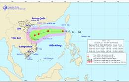Áp thấp nhiệt đới cách quần đảo Hoàng Sa khoảng 740km, gió giật cấp 8