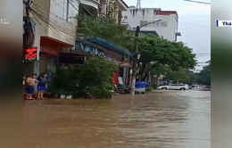 Nhiều tuyến đường bị chia cắt do mưa lũ tại Thái Nguyên