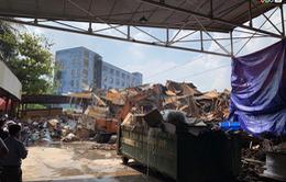 Hình ảnh ngày đầu tiên tẩy độc khu vực nhà máy Rạng Đông