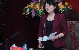 Phó Chủ tịch nước Đặng Thị Ngọc Thịnh làm việc tại Bắc Kạn