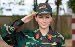 """Tham gia """"Chúng tôi là chiến sĩ"""", Hoa hậu Phương Khánh """"đốn tim"""" trong bộ quân phục"""