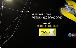 Đài THVN tường thuật trực tiếp giải cầu lông Việt Nam mở rộng 2019
