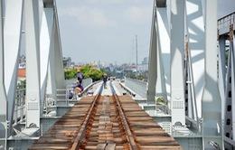 Chạy thử đường sắt cầu Bình Lợi mới