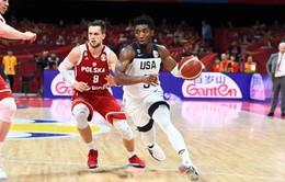 Đội tuyển Mỹ giành hạng 7 chung cuộc tại FIBA World Cup 2019
