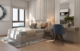 Căn hộ 2 phòng ngủ sử dụng đồ nội thất sang trọng