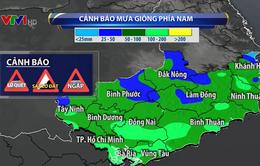 Các tỉnh phía Nam tiếp tục có mưa lớn diện rộng