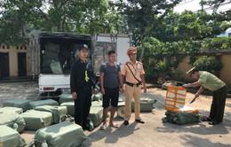 Lạng Sơn: Bắt giữ 2,3 tấn nầm lợn nhập lậu