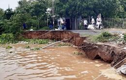 Di dời khẩn cấp các hộ dân khu vực sạt lở bờ sông Hậu