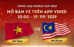 Mở bán vé online trận ĐT Việt Nam - ĐT Malaysia tại vòng loại World Cup 2022 trên VinID